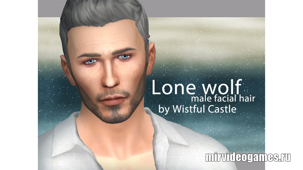 Борода Lone wolf от WistfulCastle для The Sims 4