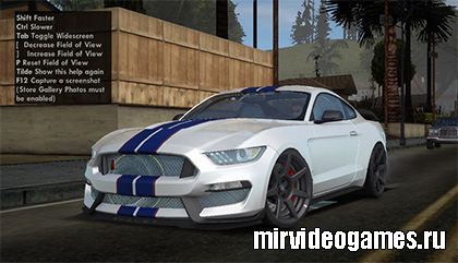 Машина 2016 Ford Mustang Shelby GT350R для Grand Theft Auto: San Andreas